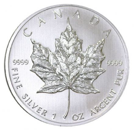 2011 1oz Silver Bullion Maple coin from Canada